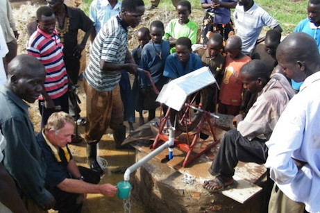 Installing a rope pump in Kenya